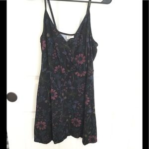 NWOT mini black flowered dress from Mossimo